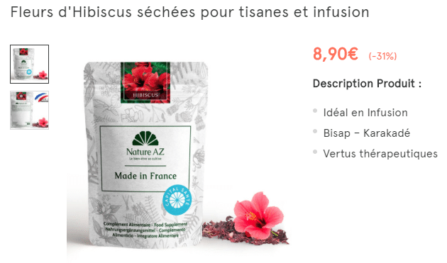 bienfaits hibiscus